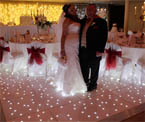 Twinkling, Led Star Light Dance floor hire in Holywood